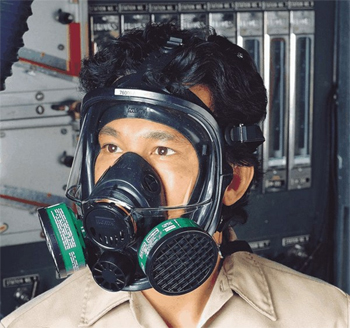 North Full-Face Respirator, Thermoplastic Elastomer