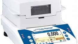Cole-Parmer Symmetry Touch-Screen Moisture Balance provides reliable results in 3 to 10 minutes depending on the sample.