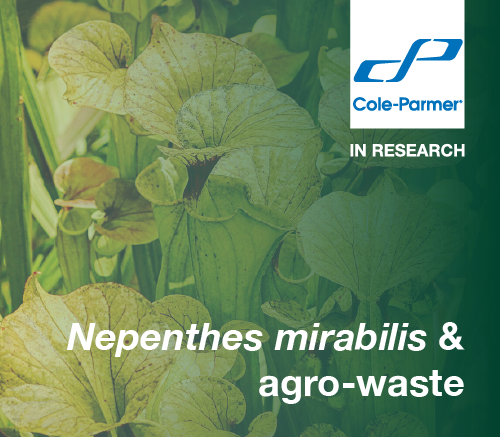Plants research Nepenthes mirabilis and agro-waste