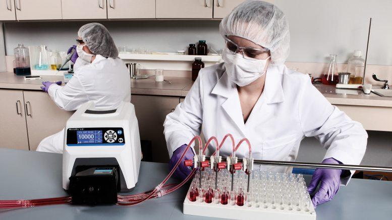 masterflex peristaltic pump in the lab